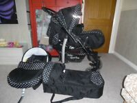 PRAM, CAR SEAT, BATH SUPPORT,SWINGING CRIB,2 X BOUNCERS,BABY CARRIER ETC