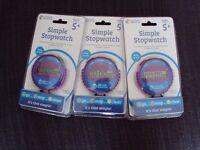 3 Stopwatches
