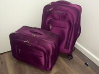 SAMSONITE grape purple violet spinner boarding wheels rolling suitcase small luggage set