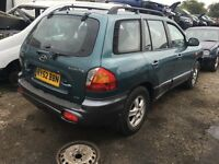 2002 HYUNDAI SANTA FE CDX V6 (AUTOMATIC PETROL)- FOR PARTS ONLY