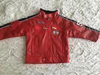 Boys leather style jacket 12-18 mnt