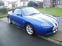 MG TF ( MGF ) 1.8L, 2002 REG WITH MOT & FULL SERVICE HISTORY SHOWING A RECENT CAMBELT & HPi CLEAR
