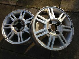 """2 FORD 14"""" ALLOYS GOOD CONDITION"""