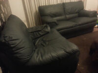 Only £30 Leather sofa 2 + 1 seaters - Quick sale
