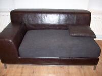Short 2 Seater Ikea Kramfors Modular Sofa Leather/Fabric