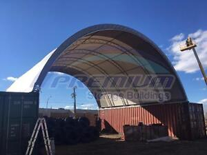 NEW SEA CONTAINER DOUBLE TRUSS STORAGE SHELTER BUILDING WITH PVC FABRICS ON SALE !!!