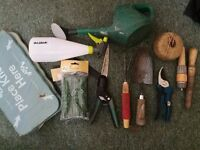 Set of Garden Tools Inc Nearly New Hosepipe, Spade,