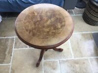 Small Round Solid Wood Side Table