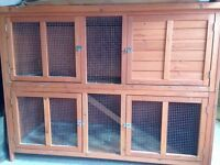 Two-storey Wooden Guinea Pig / Rabbit hutch - ideal outdoor house.