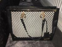 River Island black and white handbag