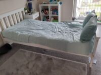 Wooden Bed and Matress