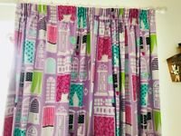 Gorgeous Girls Designer Full length Set of Curtains with Blackout VGC