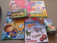 Dinosaur Toy and Book Bundle Harry and the Dinosaurs Modelling Clay and Blok tech