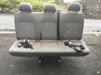 Vw T5 rear triple bench seat with belts