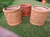 3 Garden plant pots
