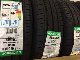 Pair of Brand New Tyres 165/65R15