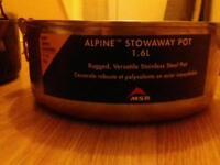 X 2 msr alpine stoaway pots 1.6 ltr
