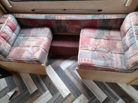 Caravan side dinette seat cushions