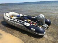 2010 Honwave 4m 7 man aluminium floor semi rigid inflatable rib boat Honda 20hp outboard