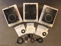 Pioneer CDJ 350 Pair with DJM 350 2 Channel Mixer