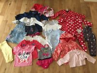 9-12 months baby girl clothes bundle job lot