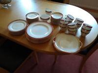 Aynsley Durham 1646 Burgundy Dinner and Tea Set