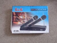 Wireless microphone and receiver AT-306