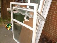 upvc white double glazed one opener window, can fit either way, auto lock