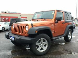 2011 Jeep Wrangler SPORT**6 SPEED**AIR CONDITIONING**HARDTOP**
