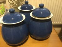Imperial Blue Denby Storage Jars