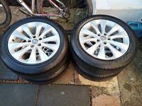 """Vauxhall Astra J GTC 18"""" Alloy Wheels & Tyres"""