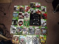 XBOX 360 SLIM 27 TOP GAMES 3 CONTROLLERS
