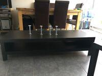 IKEA TV UNIT/STAND BLACK/BROWN