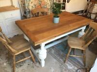 Oak Refectory Kitchen Dining Table Reclaimed