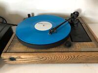 Alphason Solo turntable with Linn Basik arm - custom wood - £350