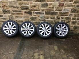 Genuine Volkswagen alloys and new tyres