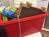 Box full of children Toys al working Lots of fun