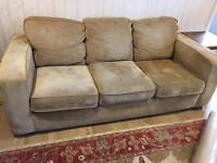 Chenille beige sofa