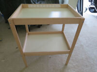 Ikea Sniglar baby changing table with John Lewis padded mat