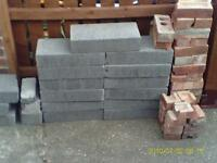 Breeze Blocks and Red Bricks , Lightweight Blocks, unused from project