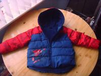 Boys Marvel spiderman winter coat with Fleece Lining & Hood Age 2-3