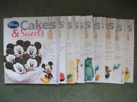 Lot of 15 Issues of Disney Cakes and Sweets Magazine recipes, baking, bakes, cooking, kids, food