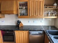 Solid oak kitchen. Contemporary design. Excellent condition complete with 40mm worktop