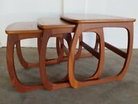 NATHAN FURNITURE CLASSIC RANGE BURLINGTON NEST OF TABLES WOODEN SET DELIVERY AVAILABLE