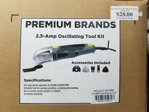 2.5 AMP OSCILLATING MULTI-TOOL with ACCESSORIES