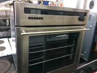Stainless steel diplomat 60cm by 60cm integrated gas grill & oven good condition with guarantee