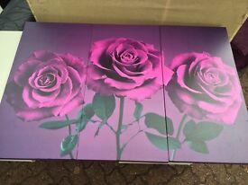 Purple set of 3 print