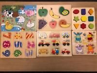 Children's wooden jigsaw bundle