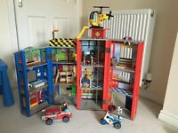 Kids wooden fire station (playhouse)