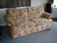 3 piece suite (bed settee and 2 chairs) plus footstool